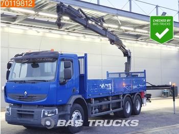 Ciężarówka burtowa Renault Premium Lander 380 6X4 Crane Kran HIAB 144 B-2 HIDUO Euro 5