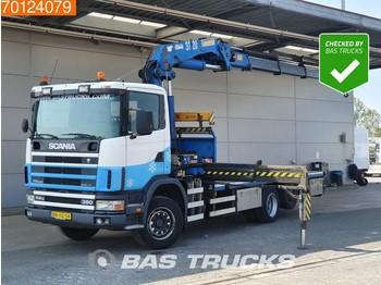 Ciężarówka burtowa Scania 114G R380 6X2 NL-Truck Kran Crane HMF 3722K4