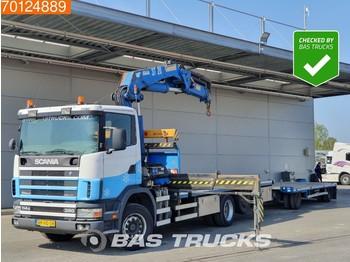 Scania 114G R380 6X2 NL-Truck Kran Crane HMF 3722K4 - ciężarówka burtowa