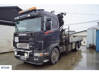 Ciężarówka burtowa Scania 124G