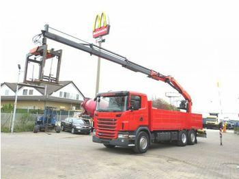 Scania G 420 LB6x2+HNB Pritsche Heckkran  - ciężarówka burtowa