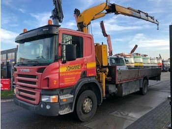 Scania P270 MANUAL + FASSI F24024  - ciężarówka burtowa
