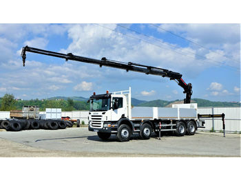 Ciężarówka burtowa Scania P400 Pritsche 7,30m +Kran/FUNK *8x4*Topzustand!