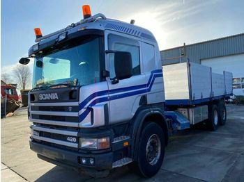 Scania P 124G 420 MANUAL EURO 3  - ciężarówka burtowa