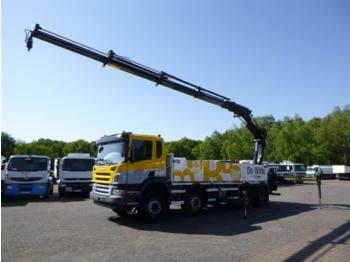 Scania P 400 8x4 + Hiab XS244 EP-4 HiPro + rotator - ciężarówka burtowa