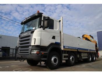Ciężarówka burtowa Scania R420+LAADBAK 6.5 M+EFFER 310.11/4S (Remote C.)