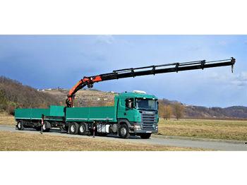 Ciężarówka burtowa Scania R420 Pritsche 6,60m +Kran/FUNK+Anhänger!
