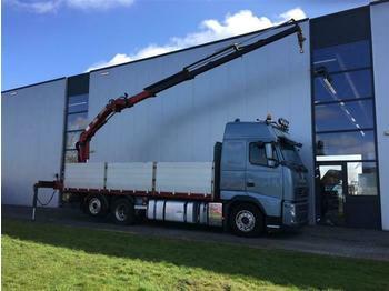 Volvo FH460 6X2 EURO 5 WITH HMF1563  - ciężarówka burtowa