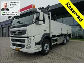 Volvo FM 330 Hiab 130 Kran baustoff  - ciężarówka burtowa