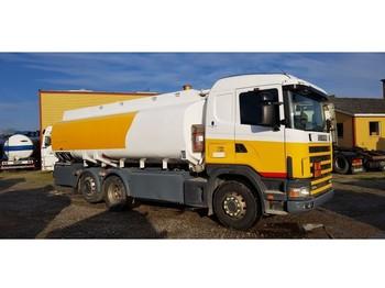 Scania 124 R 6x2 19000 Liter tank Petrol Fuel Diesel - ciężarówka cysterna