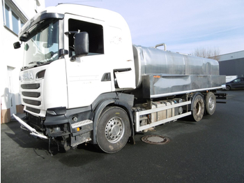 Scania R500  Unfallfahrzeug   Karosserieschaden - Motor läuft (Nr. 4587) - ciężarówka cysterna