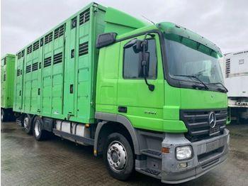Ciężarówka do przewozu zwierząt Mercedes-Benz Actros 2541 Menke 3 Stock Vollalu