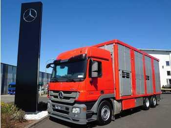 Mercedes-Benz Actros 2544 L 6x2 Viehtransporter Ka-Ba 2 Stock  - ciężarówka do przewozu zwierząt
