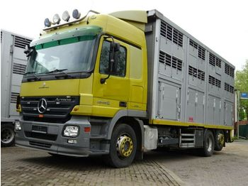 Ciężarówka do przewozu zwierząt Mercedes-Benz Actros 2548 KABA 3 Stock Vollalu Lüfter