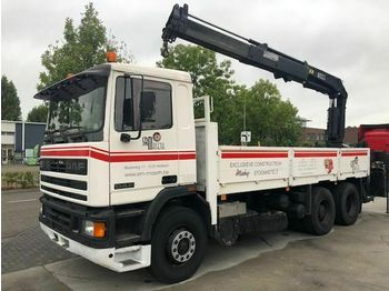 Ciężarówka furgon DAF 95-350 6X2 FULL STEEL HIAB 190