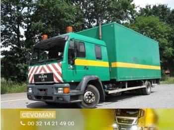 Ciężarówka furgon MAN 15.264 doka bakwagen met laadklep