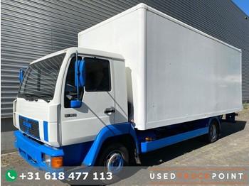 Ciężarówka furgon MAN 8-163 / Tail Lift / Full Steel / 205 DKM / Manual / Belgium Truck