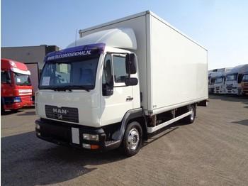Ciężarówka furgon MAN LE 12.220 + Manual + Dhollandia Lift