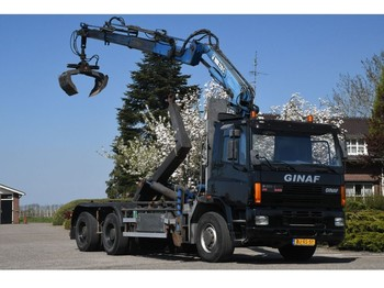 Ciężarówka hakowiec DAF /GINAF CF M 3132-S HIAB 22TM!!KRAAN/HAAK/RADIO REMOTE!!