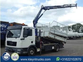 Ciężarówka hakowiec MAN 12.220 TGL hooklift with crane