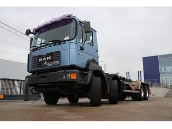 MAN 41.360 VF - 8X4 + système conteneur (2013) - ciężarówka hakowiec