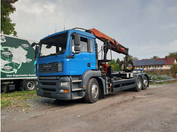 Leasing MAN PALFINGER 11502 - SCHROTTGREIFER - ABROLLER 20T  - ciężarówka hakowiec
