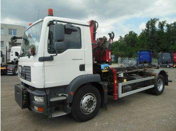 Leasing MAN TGM 18.240 BB, ABROLLKIPPER MIT KRAN  - ciężarówka hakowiec