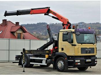 Ciężarówka hakowiec MAN TGM 18.280 Abrollkipper 4,00m + Kran/FUNK !!