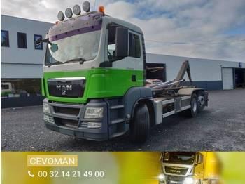 Ciężarówka hakowiec MAN TGS 26.360 Containersysteem