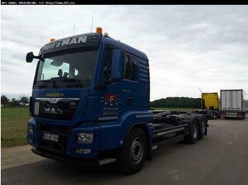 MAN TGS 26.480 6x2-4 BL Euro 6 Meiller, Top Torque  - ciężarówka hakowiec