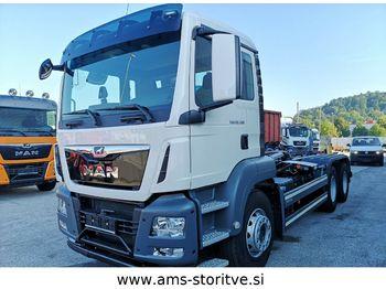 MAN TGS 26.500 6X4  Abrollkipper euro 6  , intarder  - ciężarówka hakowiec
