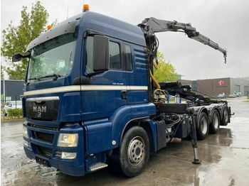MAN TGS 35.480 MANUAL EURO 4 - ONLY 291.219 km + LIV  - ciężarówka hakowiec