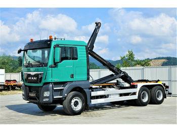 MAN  TGX 33.480 Abrollkipper 6,30m *6x4*EURO 6 !  - ciężarówka hakowiec