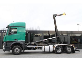MERCEDES-BENZ AROCS 2543/ 6x2 / e6 / hook lift / new engine 1k km ! - ciężarówka hakowiec