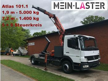 Mercedes-Benz 1224 Meiller Abroller +Atlas 101.1 - 7,3 m 1.4 t  - ciężarówka hakowiec