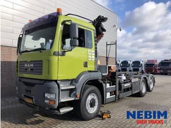 Ciężarówka kontenerowiec/ system wymienny MAN TGA 27.350 - 6X2/4 HYDRODRIVE EURO 4 ATLAS CRANE