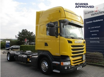 Ciężarówka kontenerowiec/ system wymienny Scania R410 4x2 MNB - MEGA BDF - SCR ONLY - TOPLINE