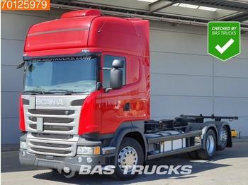 Scania R410 6X2 Retarder ACC Standklima Liftachse Navi Euro 6 - ciężarówka kontenerowiec/ system wymienny