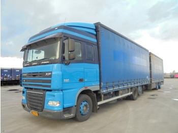 Ciężarówka plandeka DAF XF 105.410 6X2