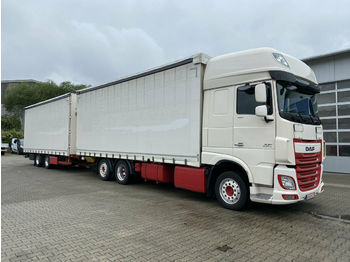 DAF XF 460 4x2 EURO6 Jumbo Pritsche Plane + Anhanger  - ciężarówka plandeka