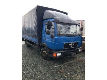 MAN 8.163 - ciężarówka plandeka