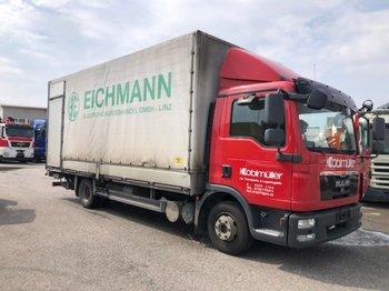 MAN TGL 8.180 Pritsche/Plane, Manual, EEV - ciężarówka plandeka