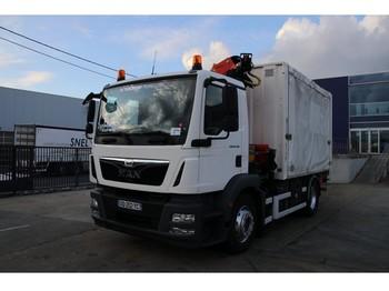 MAN TGM 19.290 - PALFINGER PK 13000 - euro 6 - ciężarówka plandeka
