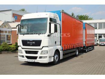 Ciężarówka plandeka MAN TGX 18.480 XXL Retarder/Hubdach/Volumen ZUG!