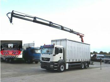 MAN TG-S 26.360 6x2-2 BL Pritsche Heckkran  - ciężarówka plandeka