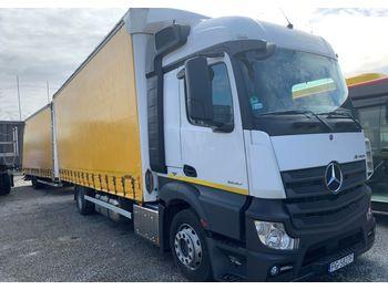 Mercedes-Benz Actros 1830LnR + przyczepa - ciężarówka plandeka