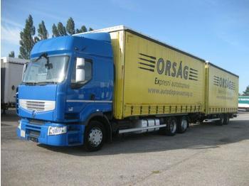 Renault - Premium R 430.24 EEV + Tandemanhänger ZUG - ciężarówka plandeka