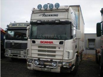 SCANIA 144 - ciężarówka plandeka