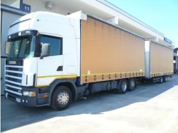 SCANIA P124L470 - ciężarówka plandeka
