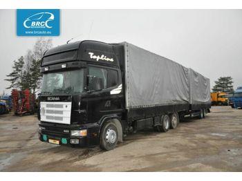 SCANIA SCANIA SCHWARZMÜLLER R 124 R 124 - ciężarówka plandeka